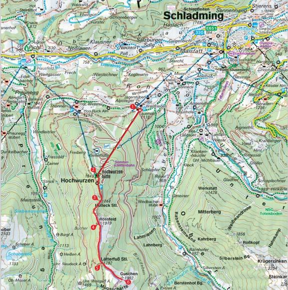 Landkarte Guschen
