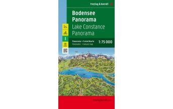 f&b Straßenkarten Bodensee Panorama, Freizeitkarte 1:75.000 Freytag-Berndt und ARTARIA