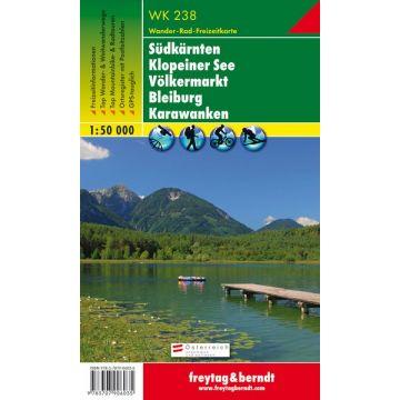 Wk 238 Sudkarnten Klopeiner See Volkermarkt Bleiburg Karawanken Wanderkarte 1 50 000 Freytag Berndt