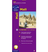 Straßenkarten IGN Karte, Carte touristique Mali Institut Geographique National