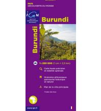Straßenkarten Afrika Burundi Institut Geographique National