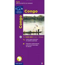 Straßenkarten IGN Landkarte - Congo Institut Geographique National