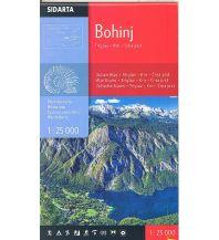 Wanderkarten Slowenien Wanderkarte Bohinj 1:25.000 Sidarta