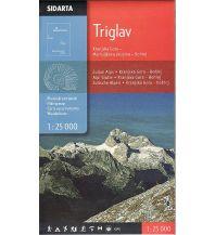 Wanderkarten Slowenien Wanderkarte Triglav 1:25.000 Sidarta