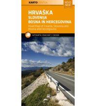 Straßenkarten Kroatien Kroatien Slowenien Bosnien-Herzegowina 1:500.000 Kartografija Slovenia