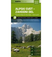 Wanderkarten Slowenien Rad- & Wanderkarte Alpski Svet - Zahodni Del/Julische Alpen 1:75.000 Kartografija Slovenia