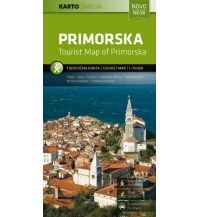 Wanderkarten Slowenien Rad- & Wanderkarte Primorska/Karst 1:75.000 Kartografija Slovenia