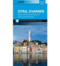 Straßenkarten Touristische Karte Istra/Istrien, Kvarner 1:100.000 Kartografija Slovenia