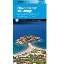 Straßenkarten Touristische Karte Crnogorsko Primorje/Montenegrinische Küste 1:100.000 Kartografija Slovenia
