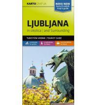 Wanderkarten Slowenien Wander- & MTB-Karte Ljubljana in okolica/Laibach und Umgebung 1:40.000 Kartografija Slovenia