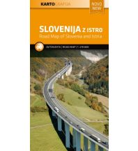 Straßenkarten Kroatien Slowenien + Istrien / Slovenija z Istro 1:270.000 Kartografija Slovenia