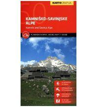 Wanderkarten Kärnten Wanderkarte Kamniško-Savinjske Alpe/Steiner Alpen 1:50.000 Kartografija Slovenia