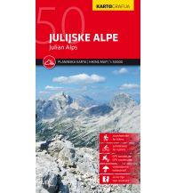 Wanderkarten Slowenien Kartografija-Wanderkarte Julijske Alpe/Julische Alpen 1:50.000 Kartografija Slovenia