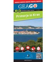 Wanderkarten Slowenien GeaGo Rekreacijska Karta Primorje & Kras/Karst 1:50.000 Geodetska Druzba D.O.O.