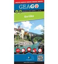 Wanderkarten Slowenien GeaGo Rekreacijska Karta Goriška (Görz und Umgebung) 1:50.000 Geodetska Druzba D.O.O.