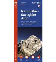 Wanderkarten Kärnten Planinska Zveza Slovenije Wanderkarte Slowenien - Kamnisko-Savinjske Alpe 1:50.000 Planinska Zveza Slovenije
