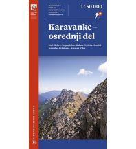 Wanderkarten Kärnten Planinska Zveza Slovenije Wanderkarte Slowenien - Karavanke - osrednji del 1:50.000 Planinska Zveza Slovenije