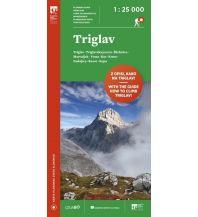 Wanderkarten Slowenien Wanderkarte mit Führer Triglav 1:25.000 Planinska Zveza Slovenije