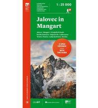 Wanderkarten Slowenien Wanderkarte mit Führer Jalovec in/und Mangart 1:25.000 Planinska Zveza Slovenije