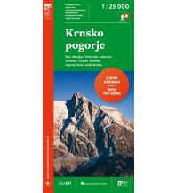 Wanderkarten Slowenien Wanderkarte mit Führer Krnsko pogorje 1:25.000 Planinska Zveza Slovenije