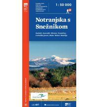 Wanderkarten Slowenien PZS-Wanderkarte Notranjska s Snežnikom 1:50.000 Planinska Zveza Slovenije