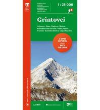 Wanderkarten Slowenien PZS-Wanderkarte Grintovci (Grintovec) 1:25.000 Planinska Zveza Slovenije