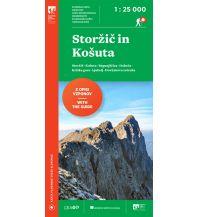 Wanderkarten Slowenien Wanderkarte mit Führer Storžic in Košuta 1:25.000 Planinska Zveza Slovenije