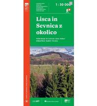 Wanderkarten Slowenien PZS-Wanderkarte Lisca in Sevnica z okolico 1:30.000 Planinska Zveza Slovenije