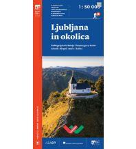 PZS-Wanderkarte Ljubljana in okolica/Laibach und Umgebung 1:50.000 Planinska Zveza Slovenije