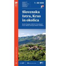 PZS-Wanderkarte Slovenska Istra, Kras in okolica 1:50.000 Planinska Zveza Slovenije