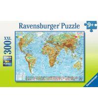 Kinderbücher und Spiele Ravensburger Puzzle - Weltkarte physisch 300 Teile Ravensburger Spiele