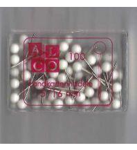 Pins und Fähnchen Stecknadeln 100 Stk. weiß Albert GmbH & Co