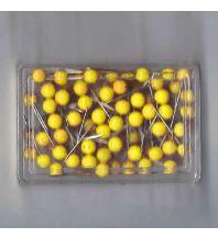 Pins und Fähnchen Stecknadeln 100 Stk. gelb Albert GmbH & Co