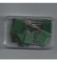 Pins und Fähnchen Standarten 20 Stk. grün Albert GmbH & Co