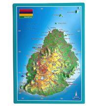 Reliefkarten Georelief Postkarte - Mauritius georelief GbR