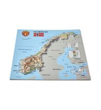 Geografie 3D Relief-Postkarte - Norway Norwegen Jana seta Map Shop Ltd.
