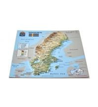 Geografie 3D Relief-Postkarte - Sweden Schweden Jana seta Map Shop Ltd.