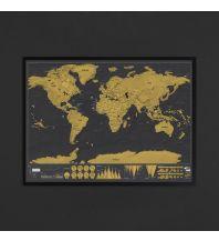 Straßenkarten Luckies of London LUKSDFRA - Framed Scratch Map Deluxe World (Gerahmte Rubbelkarte Welt, Englisch) Luckies of London