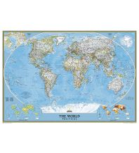 Poster und Wandkarten National Geographic Planokarte - World Politcal Classic laminated Mural 1:15.267.000 National Geographic Society Maps