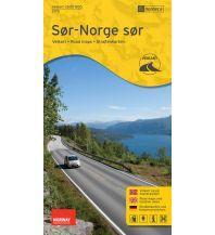 Straßenkarten Skandinavien Nordeca-Straßenkarte 2175, Sør-Norge sør/Südliches Südnorwegen 1:500.000 Nordeca AS