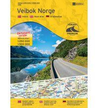 Reise- und Straßenatlanten Nordeca Veibok/Straßenatlas Norge/Norwegen 1:250.000/1:500.000 Nordeca AS