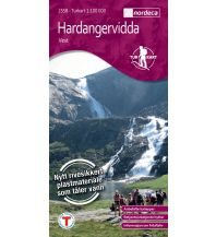 Wanderkarten Skandinavien Turkart Hardangervidda Vest/West 1:100.000 Nordeca AS