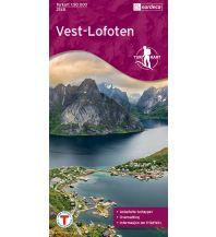Wanderkarten Skandinavien Turkart 2745, Vest-Lofoten 1:50.000 Nordeca AS