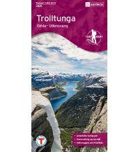 Wanderkarten Skandinavien Turkart 2825, Trolltunga 1:50.000 Nordeca AS