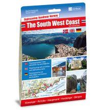 Straßenkarten Skandinavien Nordeca Opplevelsesguide 6003, The South West Coast 1:250.000 Nordeca AS