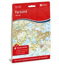 Wanderkarten Skandinavien Norge-serien-Karte 10001, Farsund 1:50.000 Nordeca AS