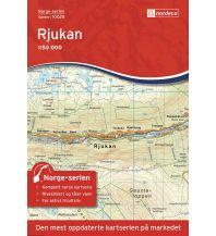 Wanderkarten Skandinavien Norge-serien-Karte 10025, Rjukan 1:50.000 Nordeca AS