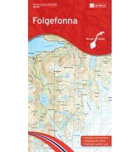 Wanderkarten Skandinavien Norge-Serien-Karte 10030, Folgefonna 1:50.000 Nordeca AS