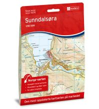 Wanderkarten Skandinavien Norge-serien-Karte 10078, Sunndalsøra 1:50.000 Nordeca AS