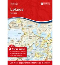 Wanderkarten Skandinavien Norge-serien-Karte 10133, Leknes 1:50.000 Nordeca AS